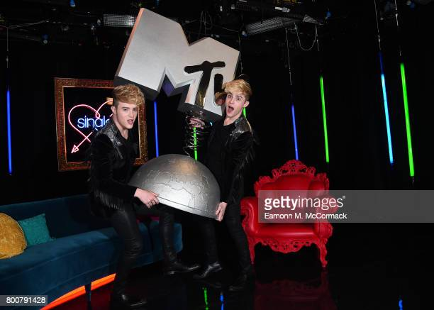 Jedward attend the photocall of MTV's new show 'Single AF' at MTV London on June 25 2017 in London England