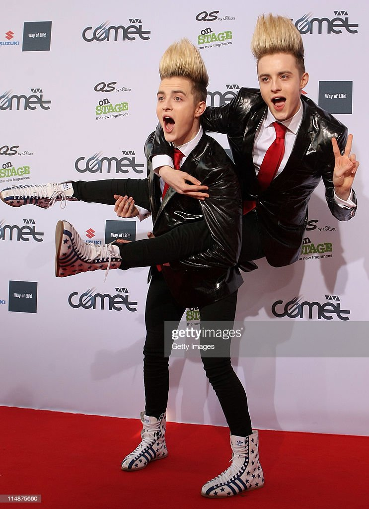 Jedward attend the VIVA Comet 2011 Awards at Koenig-Pilsner Arena on May 27, 2011 in Oberhausen, Germany.