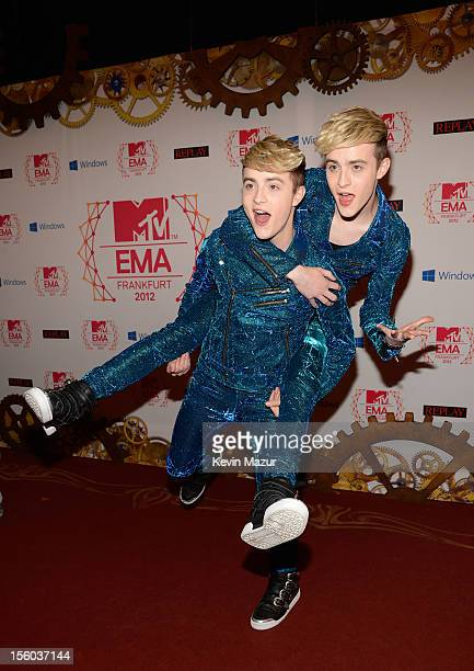 Jedward attends the MTV EMA's 2012 at Festhalle Frankfurt on November 11 2012 in Frankfurt am Main Germany