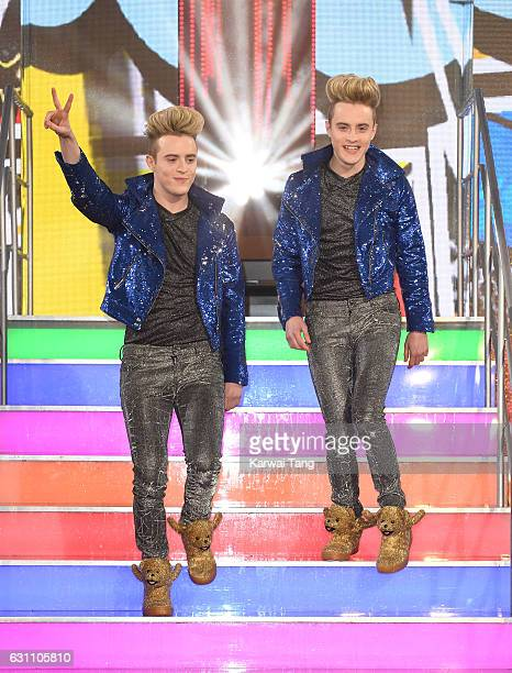 Jedward enters the Celebrity Big Brother house at Elstree Studios on January 6 2017 in Borehamwood United Kingdom