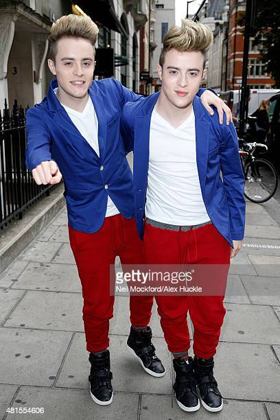 Jedward seen arriving at the Kiss FM Studios on July 22 2015 in London England Photo by Neil Mockford/Alex Huckle/GC Images
