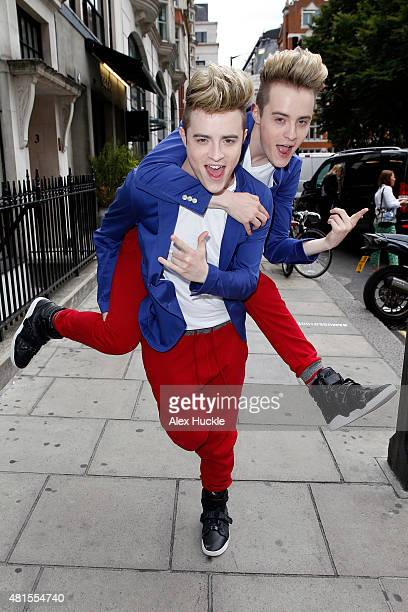 Jedward seen arriving at the Kiss FM Studios on July 22 2015 in London England Photo by Alex Huckle/GC Images