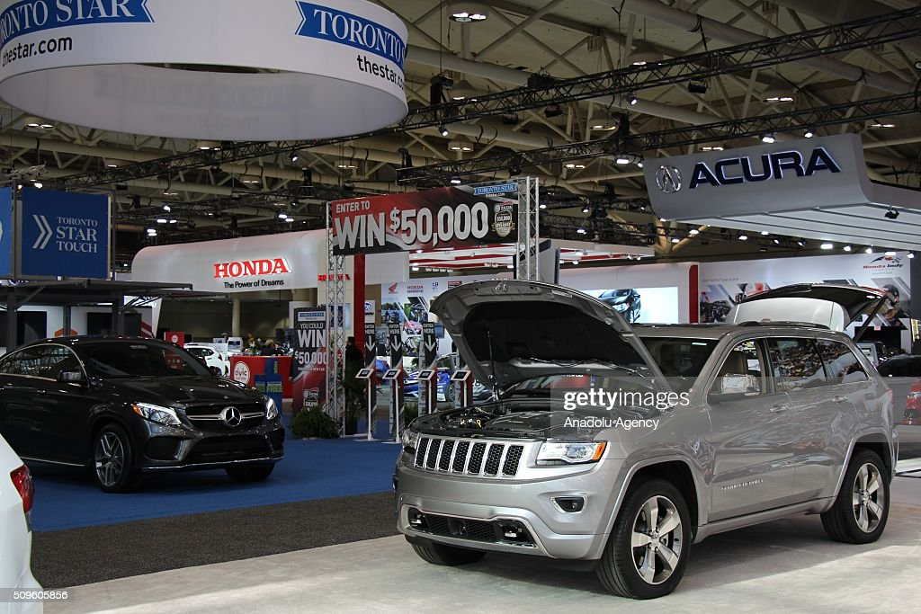 A Jeep Grand Cherokee is on display during the Canada Auto Show at Toronto Metro Convention Center in Toronto, Canada on February 11, 2016.