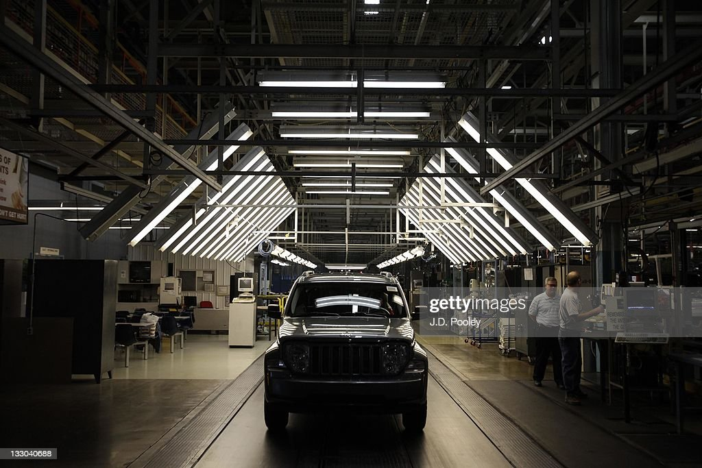 A Jeep Liberty rolls off the assembly line at the Toledo Assembly Complex on November 16, 2011 in Toledo, Ohio. Chrysler Group LLC says it will add 1,100 jobs at the Toledo, Ohio assembly complex as part of an overall $1.7 billion investment to build a new generation of Jeep sport utility vehicles.