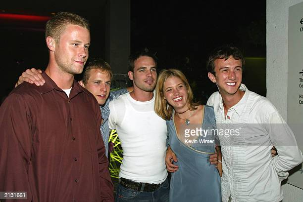 'Jeepers Creepers 2' cast members Eric Nenninger Travis Schiffner Al Santos Nicki Aycox and Andrew Reville pose at the afterparty for 'Legally Blonde...
