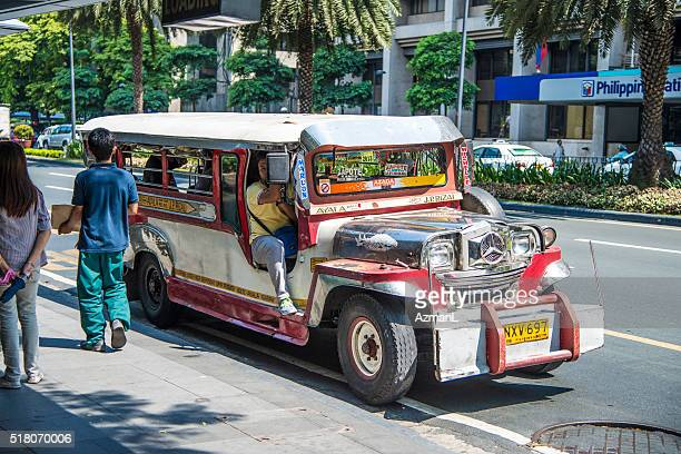 Jeepney in Makati City, Manila, Philippines.