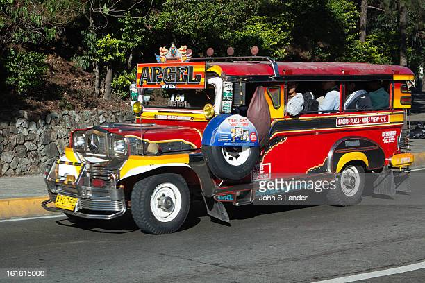 BAGUIO BENGUET PHILIPPINES Jeepneys are a popular means of public transportation in the Philippinesand were originally made of abandoned US army...