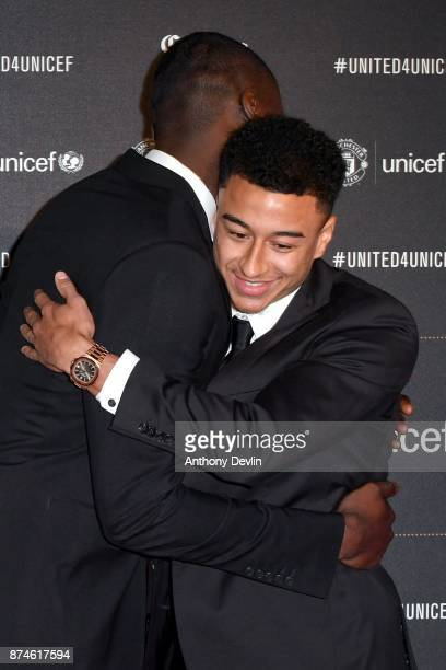 Jeese Lingard and Stormzy attend the United for Unicef Gala Dinner at Old Trafford on November 15 2017 in Manchester England