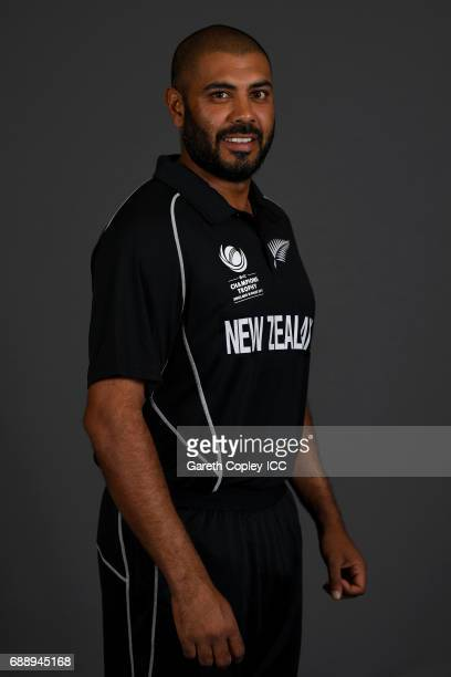 Jeetan Patel of New Zealand poses for a portrait at the team hotel on May 25 2017 in London England