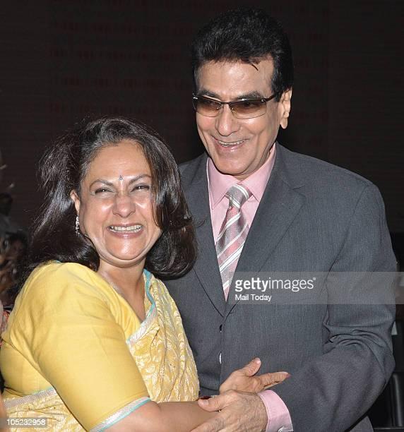 Jeetendra and Jaya Bachchan at the Harmony awards in Mumbai on October 7 2010
