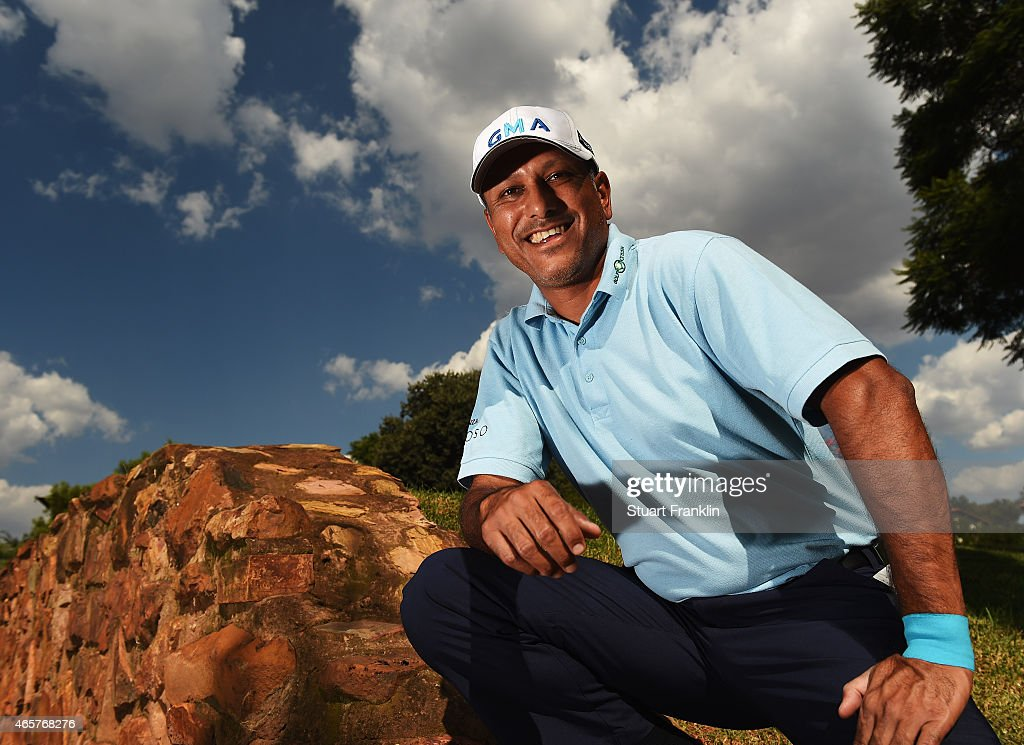 Jeev Milka Singh of India poses for a picture prior to the start of the Tshwane Open at Pretoria Country Club on March 10, 2015 in Pretoria, South Africa.