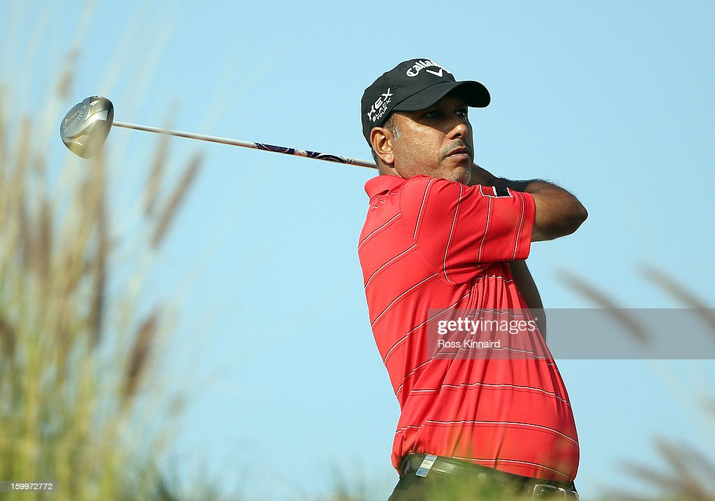 Jeev Milkha Singh of India during the second round of the Commercial Bank Qatar Masters at The Doha Golf Club on January 24, 2013 in Doha, Qatar.