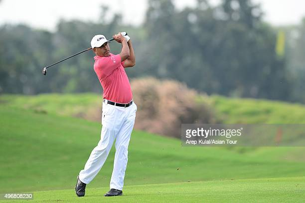 Jeev Milkha Singh of India pictured during during round one of the World Classic Championship at Laguna National Golf Country Club on November 12...