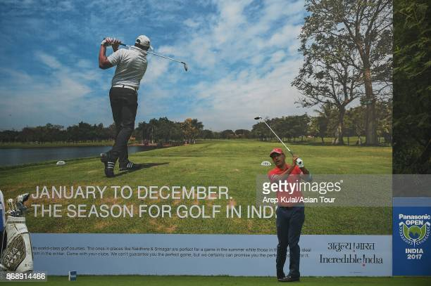 Jeev Milkha Singh of India pictured during the ProAm for the Panasonic Open India at Delhi Golf Club on November 1 2017 in New Delhi India