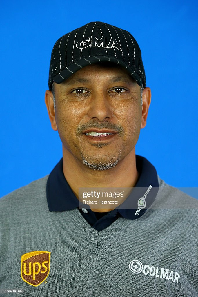 <a gi-track='captionPersonalityLinkClicked' href=/galleries/search?phrase=Jeev+Milkha+Singh&family=editorial&specificpeople=562393 ng-click='$event.stopPropagation()'>Jeev Milkha Singh</a> of India poses for a portrait during a practice day for the BMW PGA Championships at Wentworth on May 19, 2015 in Virginia Water, England.