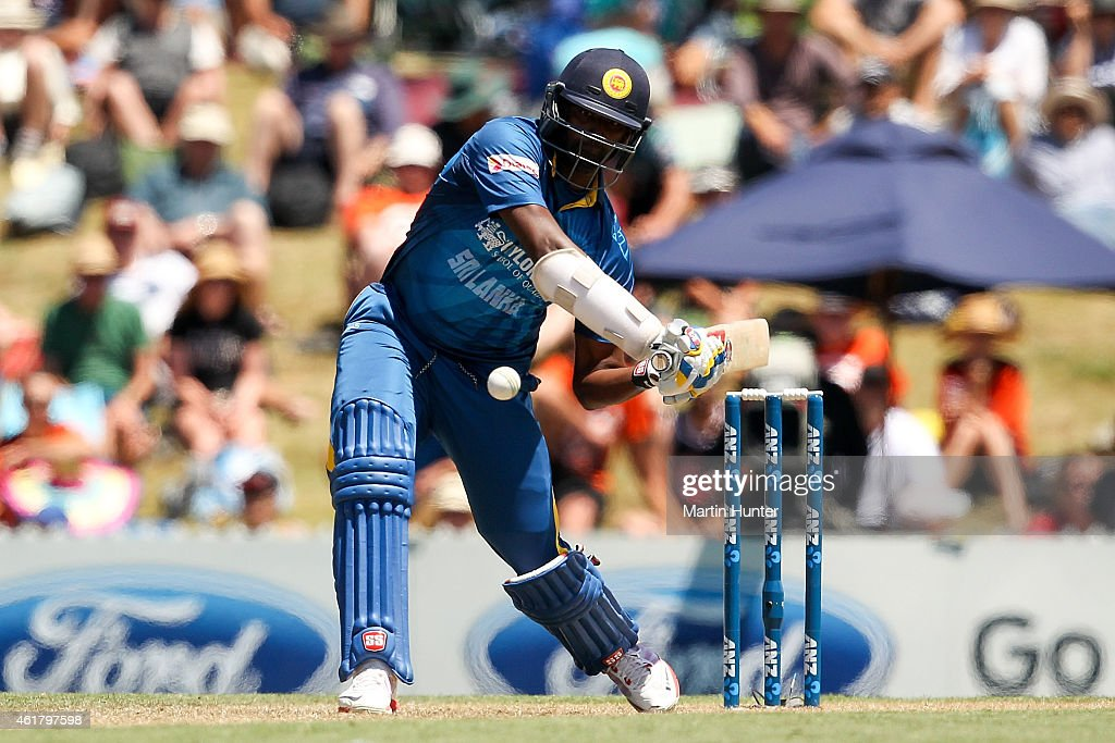 <a gi-track='captionPersonalityLinkClicked' href=/galleries/search?phrase=Jeevan+Mendis&family=editorial&specificpeople=7037737 ng-click='$event.stopPropagation()'>Jeevan Mendis</a> of Sri Lanka bats during the One Day International match between New Zealand and Sri Lanka at Saxton Field on January 20, 2015 in Nelson, New Zealand.