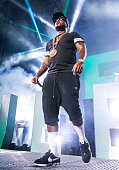 Jeezy performs during the Under the Influence of Music Tour at DTE Energy Music Theater on August 10 2014 in Clarkston Michigan
