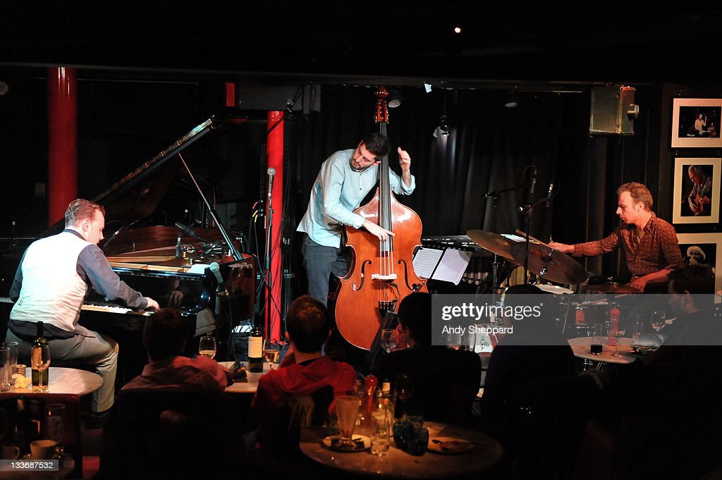 Jef Neve, Reuben Samama and Teun Verbruggen of Jef Neve Trio perform on stage at Pizza Express Jazz Club during Day 9 of the London Jazz Festival 2011 on November 19, 2011 in London, United Kingdom.