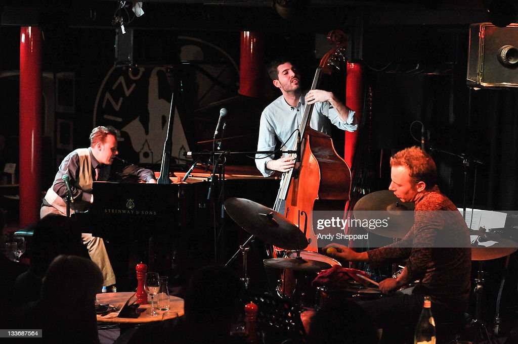 Jef Neve, Reuben Samama and Teun Verbruggen of Jef Neve Trio perform on stage at (venue) during Day 9 of the London Jazz Festival 2011 on November 19, 2011 in London, United Kingdom.