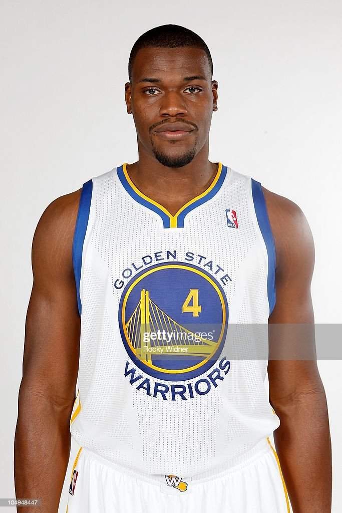 Jeff Adrien #4 of the Golden State Warriors poses for a portrait during Media Day on September 27, 2010 at the Warriors Practice Facility in Oakland, California.