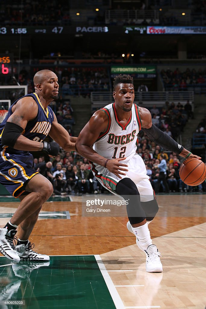 <a gi-track='captionPersonalityLinkClicked' href=/galleries/search?phrase=Jeff+Adrien&family=editorial&specificpeople=727235 ng-click='$event.stopPropagation()'>Jeff Adrien</a> #12 of the Milwaukee Bucks drives to the basket against the Indiana Pacers on February 22, 2014 at the BMO Harris Bradley Center in Milwaukee, Wisconsin.
