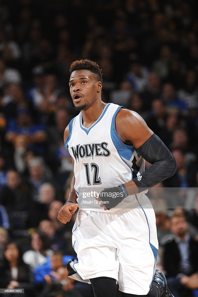 <a gi-track='captionPersonalityLinkClicked' href=/galleries/search?phrase=Jeff+Adrien&family=editorial&specificpeople=727235 ng-click='$event.stopPropagation()'>Jeff Adrien</a> #12 of the Minnesota Timberwolves walks on the court against the Golden State Warriors on December 27, 2014 at Oracle Arena in Oakland, California.