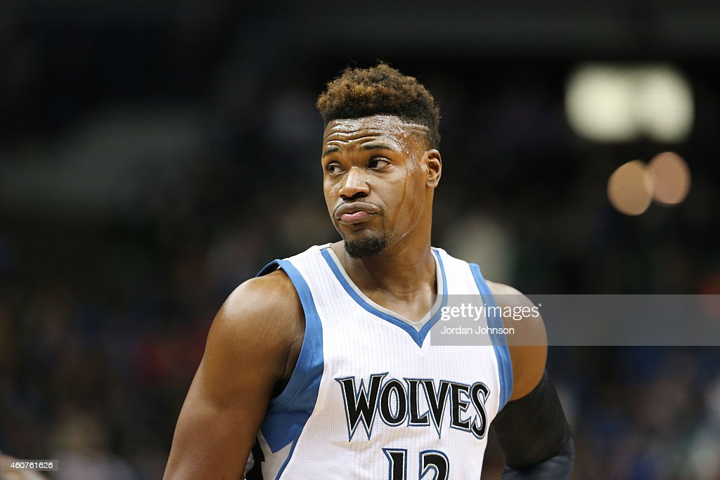 <a gi-track='captionPersonalityLinkClicked' href=/galleries/search?phrase=Jeff+Adrien&family=editorial&specificpeople=727235 ng-click='$event.stopPropagation()'>Jeff Adrien</a> #12 of the Minnesota Timberwolves during the game against the Indiana Pacers on December 21, 2014 at Target Center in Minneapolis, Minnesota.
