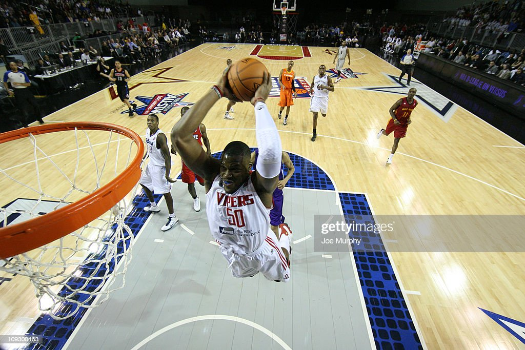 <a gi-track='captionPersonalityLinkClicked' href=/galleries/search?phrase=Jeff+Adrien&family=editorial&specificpeople=727235 ng-click='$event.stopPropagation()'>Jeff Adrien</a> #50 of the West All-Stars shoots the ball against the East All-Stars during the 2011 NBA D-League All-Star Game presented by SonoSite on center court at Jam Session presented by Adidas during NBA All Star Weekend at the Los Angeles Convention Center on February 19, 2011 in Los Angeles, California.
