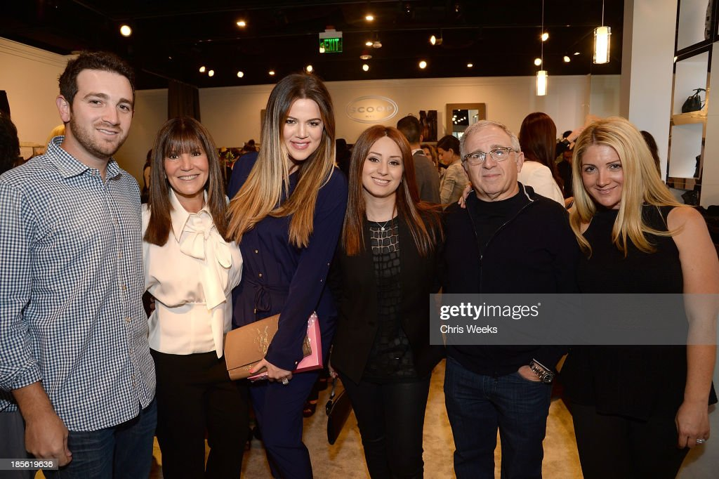 Jeff Azoff, Shelli Azoff, reality television personality <a gi-track='captionPersonalityLinkClicked' href=/galleries/search?phrase=Khloe+Kardashian&family=editorial&specificpeople=3955023 ng-click='$event.stopPropagation()'>Khloe Kardashian</a>, Jaye Azoff, <a gi-track='captionPersonalityLinkClicked' href=/galleries/search?phrase=Irving+Azoff&family=editorial&specificpeople=2560071 ng-click='$event.stopPropagation()'>Irving Azoff</a> and Allison Azoff Statter attend the Scoop NYC event at Scoop NYC on October 22, 2013 in Beverly Hills, California.