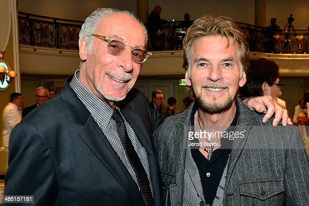 Jeff Barry and Kenny Loggins attend the Beverly Hills Bar Association's Entertainment Lawyer of the Year Dinner at Beverly Hills Hotel on April 16...