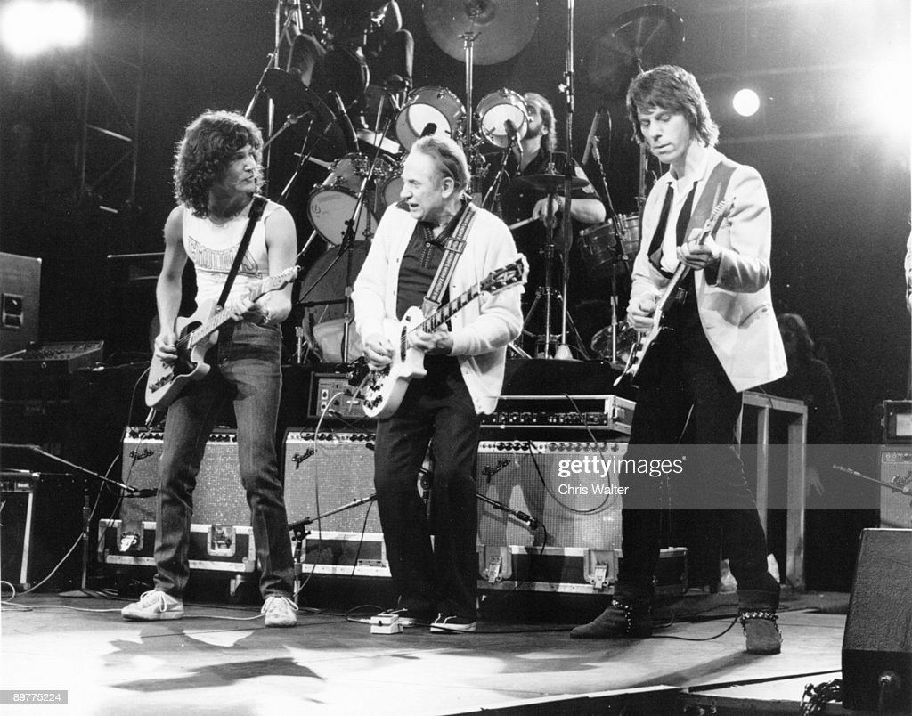 Jeff Beck 1983 with Les Paul and Billy Squier at 'Rock And Roll Tonite' TV Show 1983