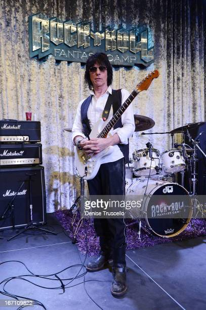 Jeff Beck hosts Rock 'n' Roll Fantasy Camp on April 20 2013 in Las Vegas Nevada