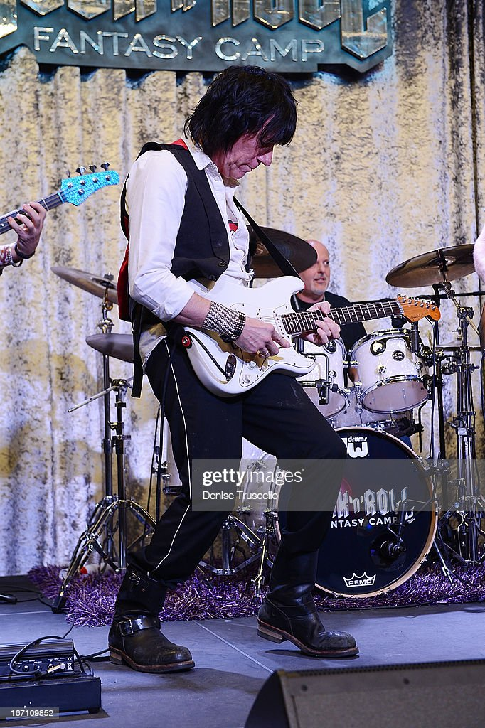 <a gi-track='captionPersonalityLinkClicked' href=/galleries/search?phrase=Jeff+Beck&family=editorial&specificpeople=213341 ng-click='$event.stopPropagation()'>Jeff Beck</a> hosts Rock 'n' Roll Fantasy Camp on April 20, 2013 in Las Vegas, Nevada.