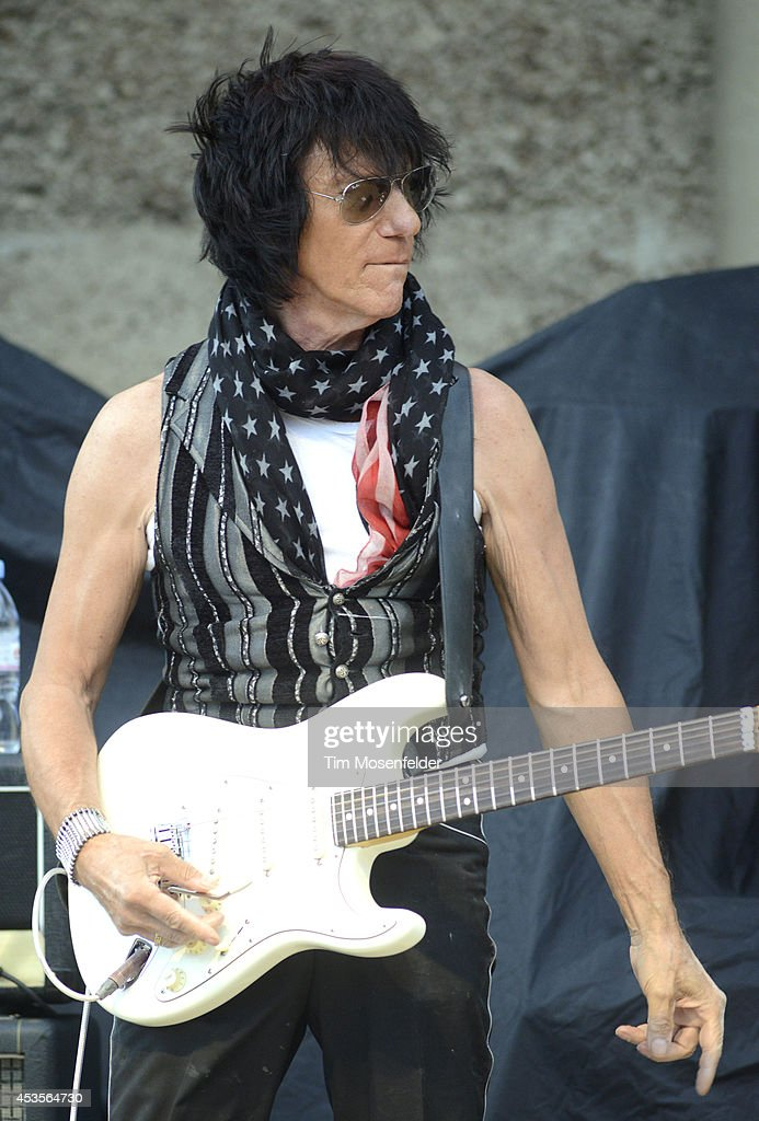 Jeff Beck performs as part of the 'Beards N' Beck Tour 2014' at The Mountain Winery on August 12, 2014 in Saratoga, California.