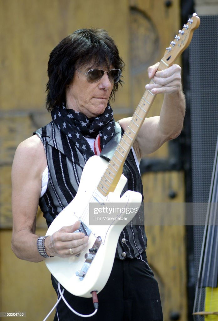 <a gi-track='captionPersonalityLinkClicked' href=/galleries/search?phrase=Jeff+Beck&family=editorial&specificpeople=213341 ng-click='$event.stopPropagation()'>Jeff Beck</a> performs as part of the 'Beards N' Beck Tour 2014' at The Mountain Winery on August 12, 2014 in Saratoga, California.