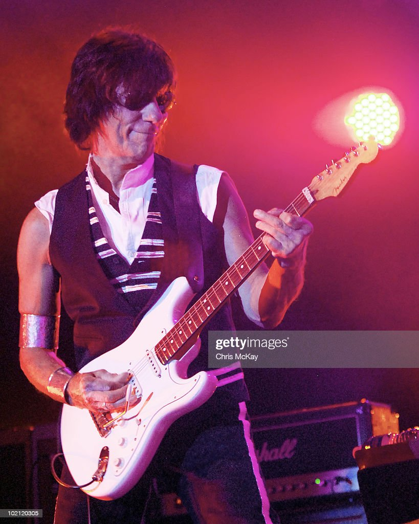 Jeff Beck performs at Chastain Park Amphitheater on June 11, 2010 in Atlanta, Georgia.