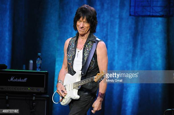 Jeff Beck performs at The Joint inside the Hard Rock Hotel Casino on August 16 2014 in Las Vegas Nevada