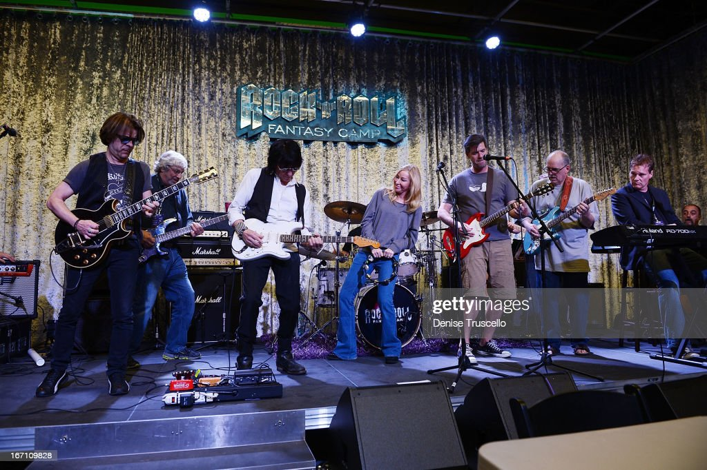 Jeff Beck plays with Rock 'n' Roll Fantasy Camp Campers on April 20, 2013 in Las Vegas, Nevada.