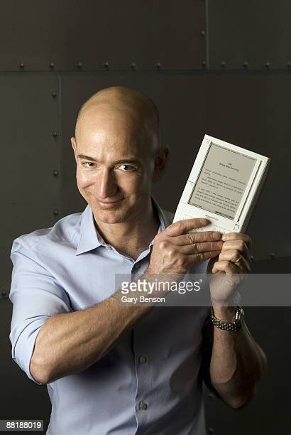 Jeff Bezos Amazoncom Chairman and Founder with a Kindle at a portrait session in Seattle on November 19 2008
