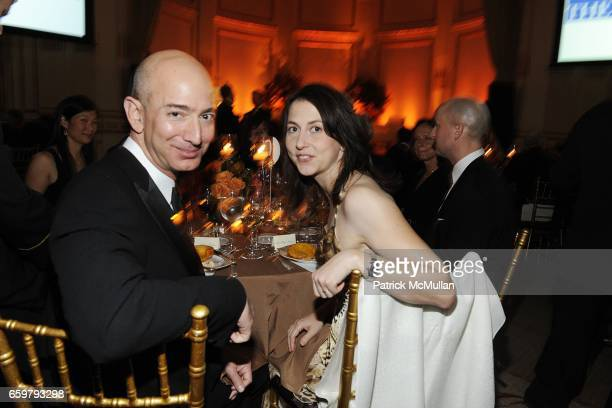 Jeff Bezos and MacKenzie Bezos attend The Aspen Institute 26th Annual Awards Dinner at The Plaza Hotel on November 5 2009 in New York City
