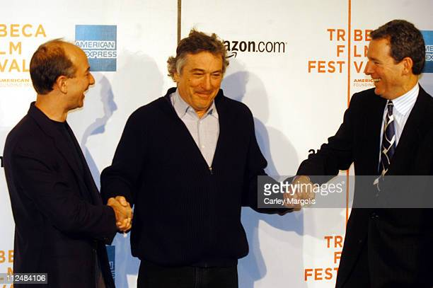 Jeff Bezos CEO/founder of Amazoncom Robert De Niro cofounder of the Tribeca Film Festival and John Hayes chief marketing officer of American Express