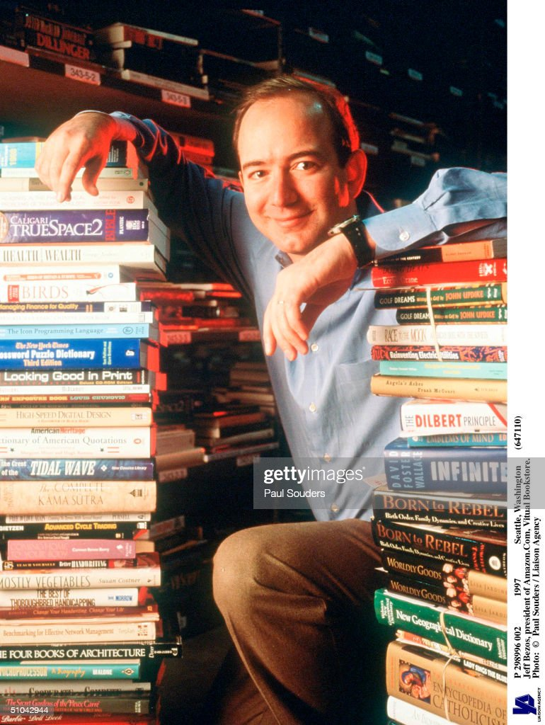 Jeff Bezos, Founder & Ceo Of Amazon.Com, Poses For Portrait January 1, 1997 In Seattle, Wa.