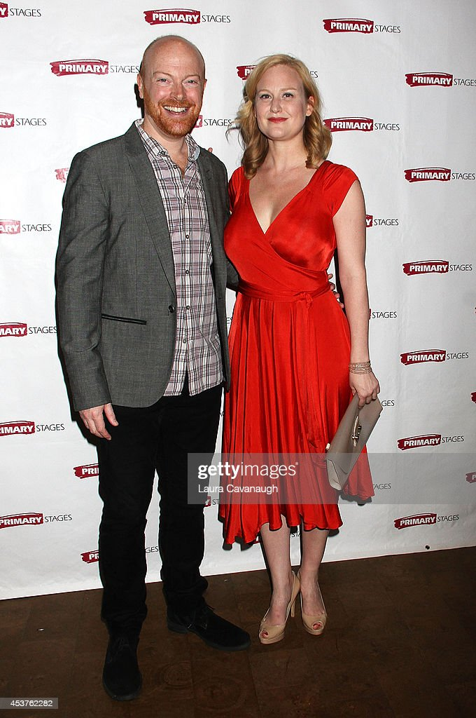 Jeff Biehl and Heidi Armbruster attend the 'Poor Behavior' Opening Night after party at Casa Nonna on August 17, 2014 in New York City.