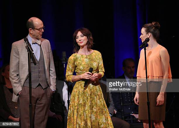Jeff Blumenkrantz Carmen Cusack and Emily Padgett on stage during 'Bright Star' In Concert at Town Hall on December 12 2016 in New York City
