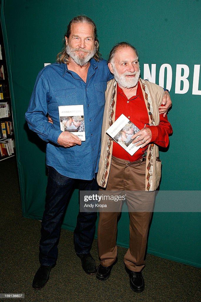 Jeff Bridges and Bernie Glassman visit Barnes & Noble Union Square on January 8, 2013 in New York City.