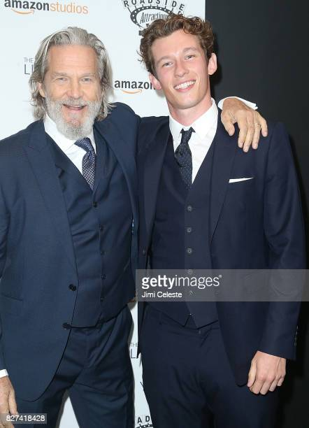 Jeff Bridges and Callum Turner attend the New York premiere of 'The Only Living Boy in New York' at The Museum of Modern Art on August 7 2017 in New...