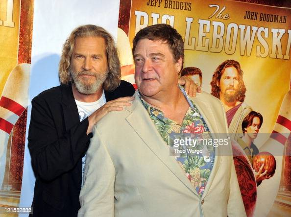 Jeff Bridges and John Goodman attend 'The Big Lebowski' Bluray release at the Hammerstein Ballroom on August 16 2011 in New York City