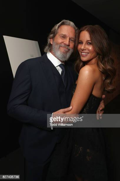 Jeff Bridges and Kate Beckinsale attend 'The Only Living Boy In New York' Premiere at Museum of Modern Art on August 7 2017 in New York City
