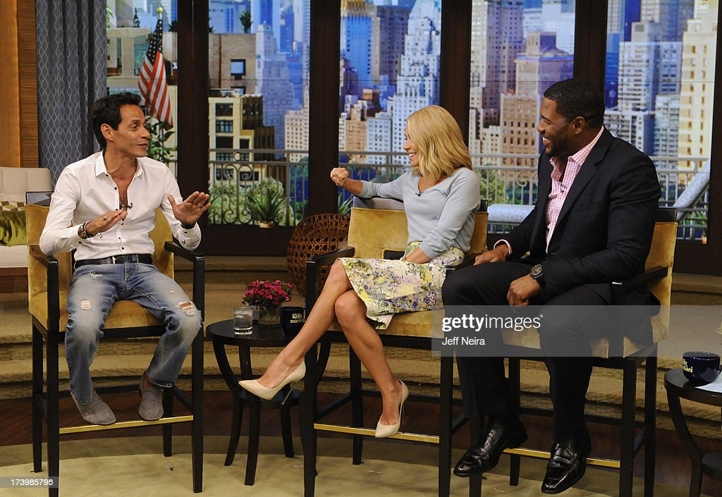 Jeff Bridges and Mark Anthony are guests on 'LIVE with Kelly and Michael,' distributed by Disney-ABC Domestic Television. STRAHAN