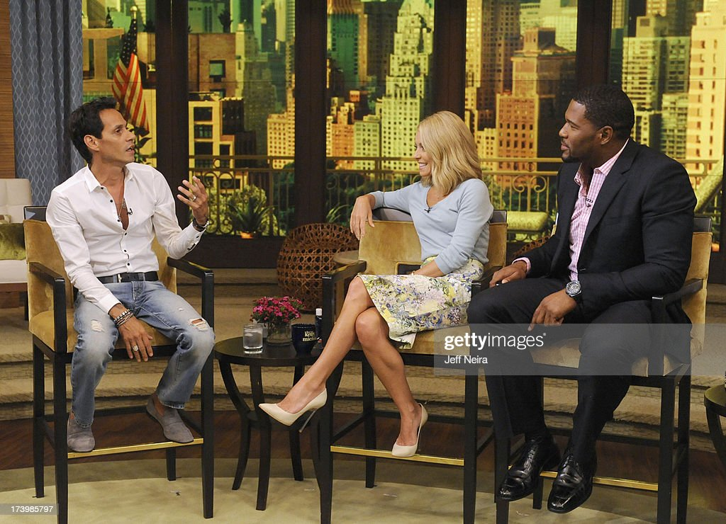 Jeff Bridges and Mark Anthony are guests on 'LIVE with Kelly and Michael,' distributed by Disney-ABC Domestic Television. MARK